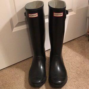 Black Huntress Hunter Rain Boots Sz 9